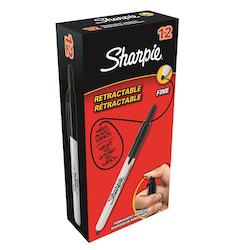 Sharpie Fine märkpenna med tryckknapp 1mm svart