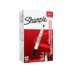 Sharpie Twin tip märkpenna 1/0,5mm svart