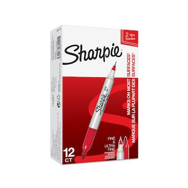 Sharpie Twin tip märkpenna 1/0,5mm röd