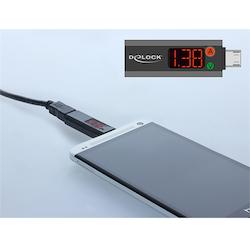 De-lock 65682 Micro USB-adapter med LED-indikator för volt och ampere