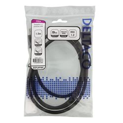 Deltaco DisplayPort-kabel, 8K, DP 1.4, DSC 1.2, 1.5m, svart