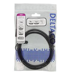 Deltaco DisplayPort-kabel, 8K, DP 1.4, DSC 1.2, 1m, svart