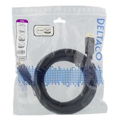 Deltaco DisplayPort-kabel, 4K UHD, DP 1.2, 5m, svart