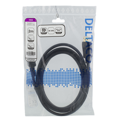 Deltaco DisplayPort-kabel, 4K UHD, DP 1.2, 2m, svart