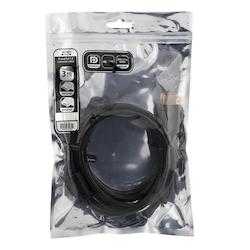 Deltaco DisplayPort-monitorkabel, 4K UHD, DP 1.2, 3m, svart