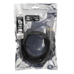 Deltaco DisplayPort-monitorkabel, 4K UHD, DP 1.2, 2m, svart