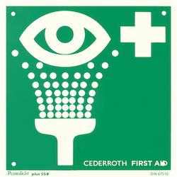 Ögondusch Cederroth skylt