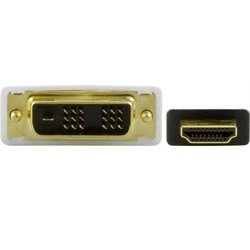 Deltaco HDMI till DVI-D kabel, FHD, Single Link, 0,5m