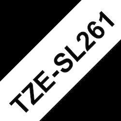 Brother TZESL261 original självlaminerande tape, svart på vit, 36 mm
