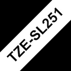 Brother TZESL251 original självlaminerande tape, svart på vit, 24 mm