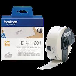 Brother DK-11201 orginal standard adressetiketter, svart på vit 29 x 90 mm