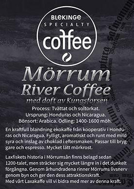 Mörrum river coffee EKO - Blekinge speciality coffee