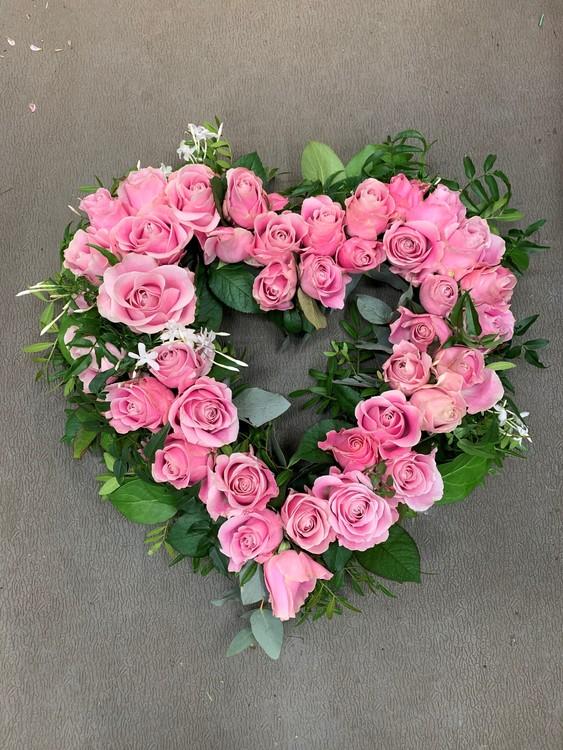 Rosa hjärta - Öppet