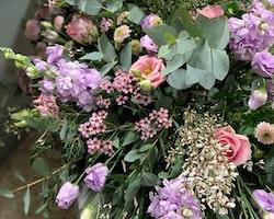 Kistdekoration - Ljusrosa & lila toner