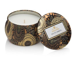 Baltic Amber - Mini decorative tin candle