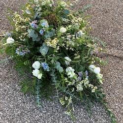 Droppformad dekoration - Vitt & Ljusblått