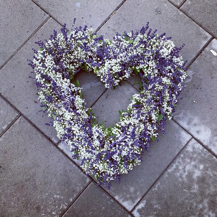 Hjärta av lavendel - Öppet