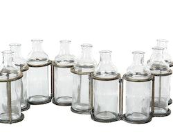 Flaskor M. Ställning Antik Mässing