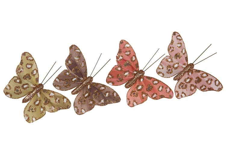 Fjäril/Clip Glitter