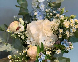 Floristens val - Vitt & Blått