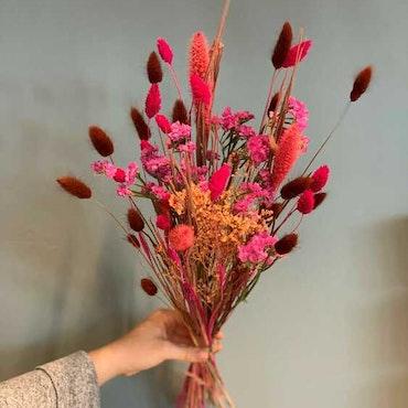 Torkad bukett - Rosa och bruna toner