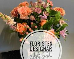 Floristens val - Lila & Aprikos