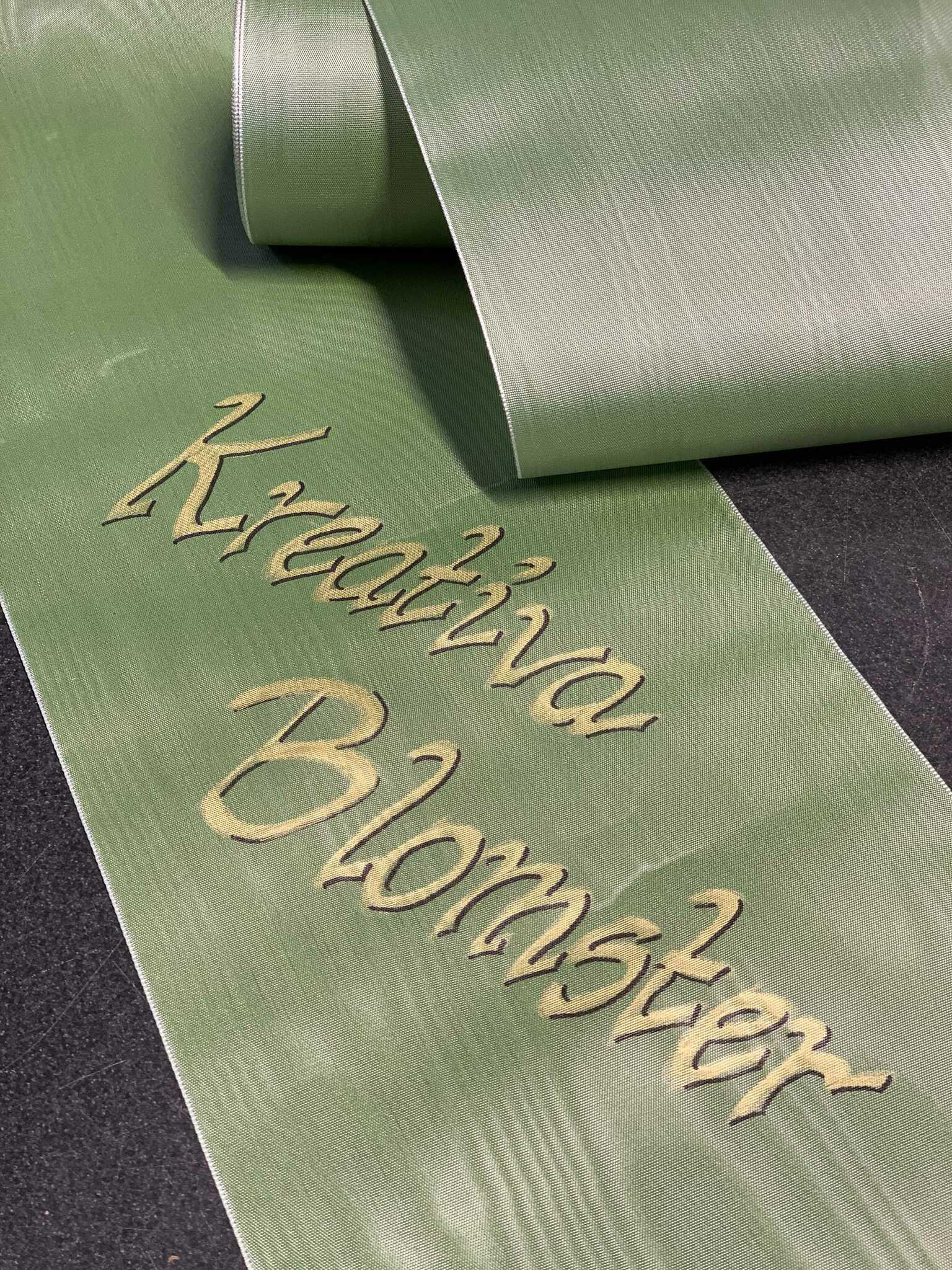 Dekorativt band för begravningsdekoration - Vitt