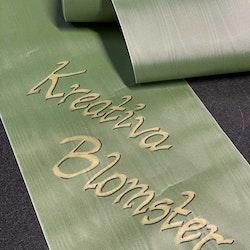 Dekorativt band för begravningsdekoration - Grön