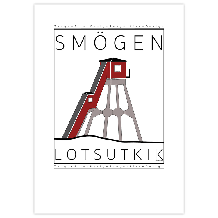 Poster Smögens Lotsutkik utan ram