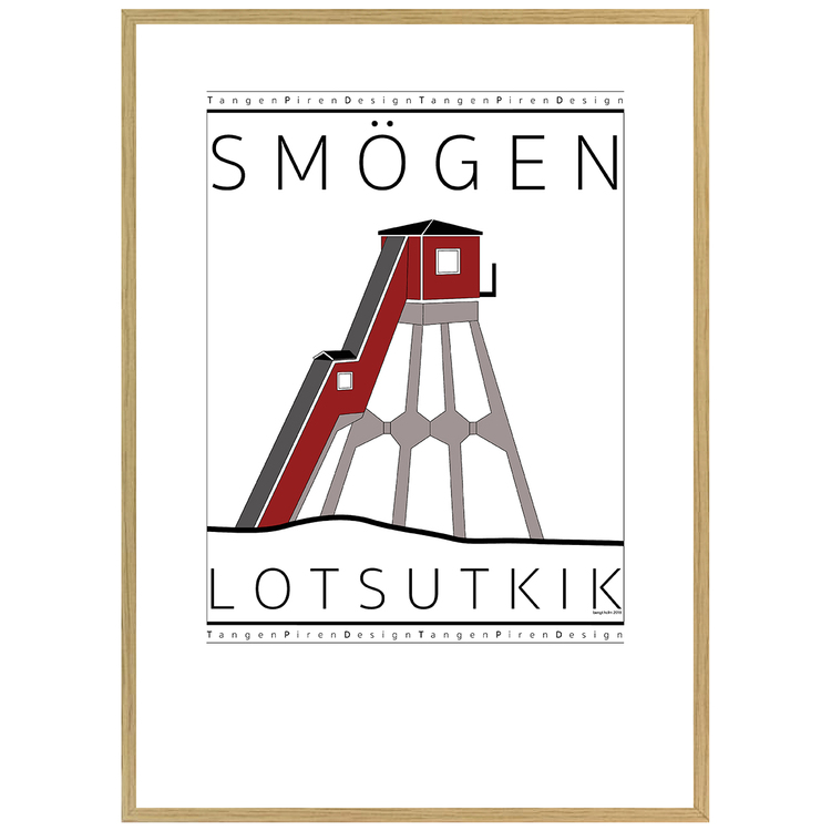 Poster Smögens Lotsutkik med ekram