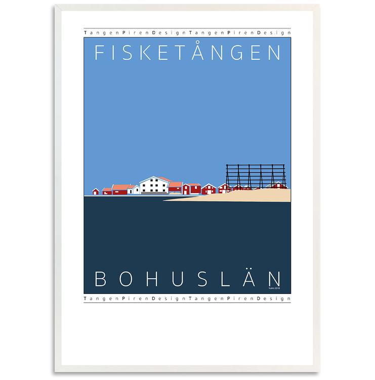 Poster Fisketången med vit ram
