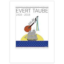 Poster Evert Taube Jubileum