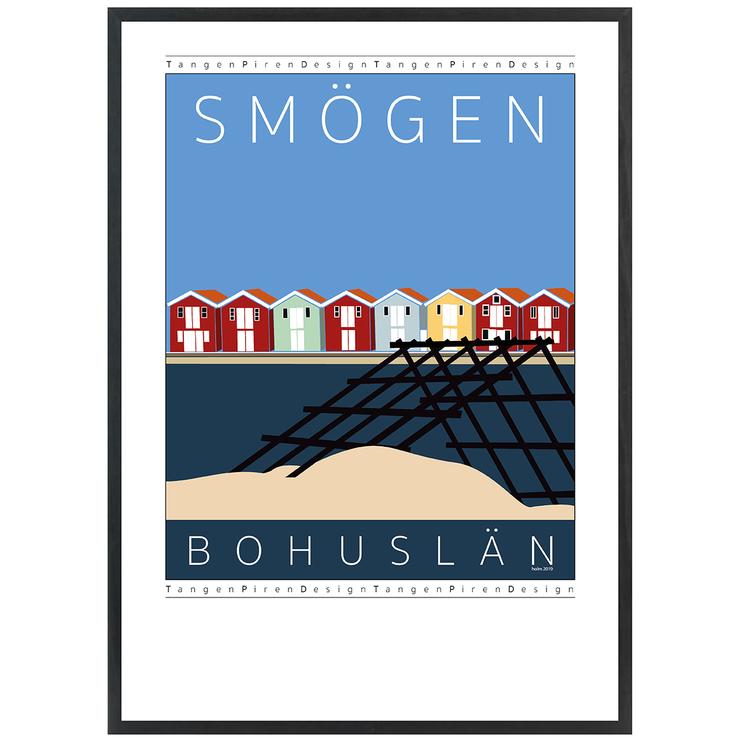 Poster Smögen Vadbock med svart ram