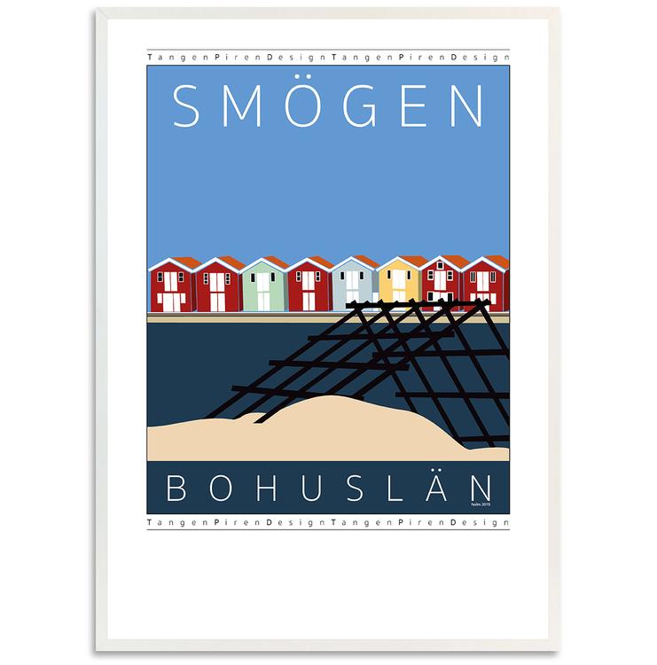 Poster Smögen Vadbock med vit ram