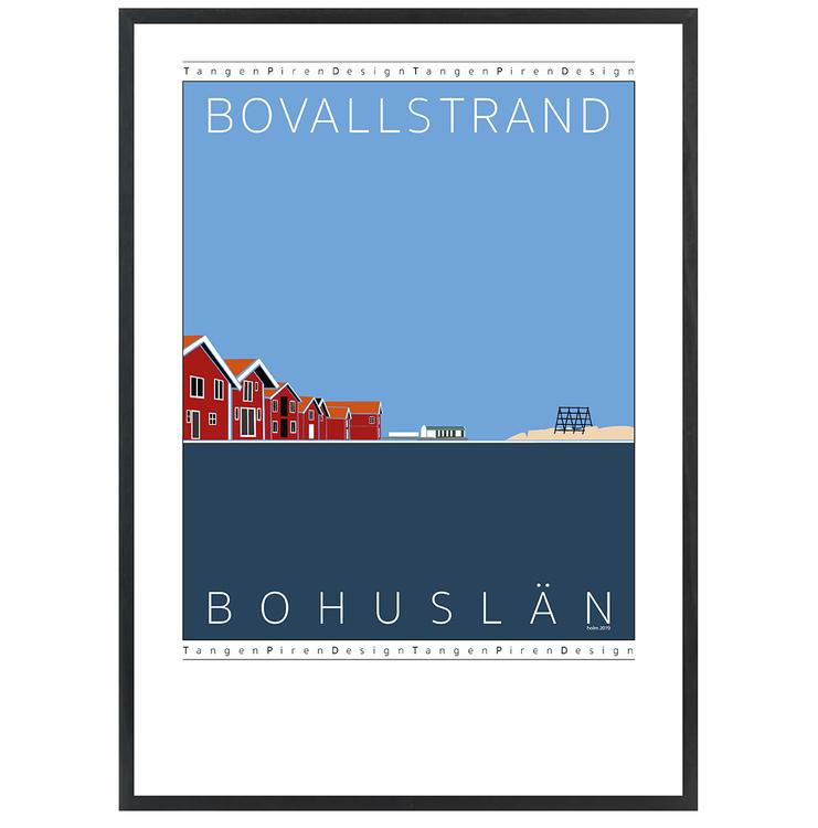 Poster Bovallstrand med svart ram