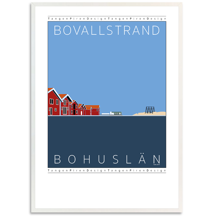 Poster Bovallstrand med vit ram
