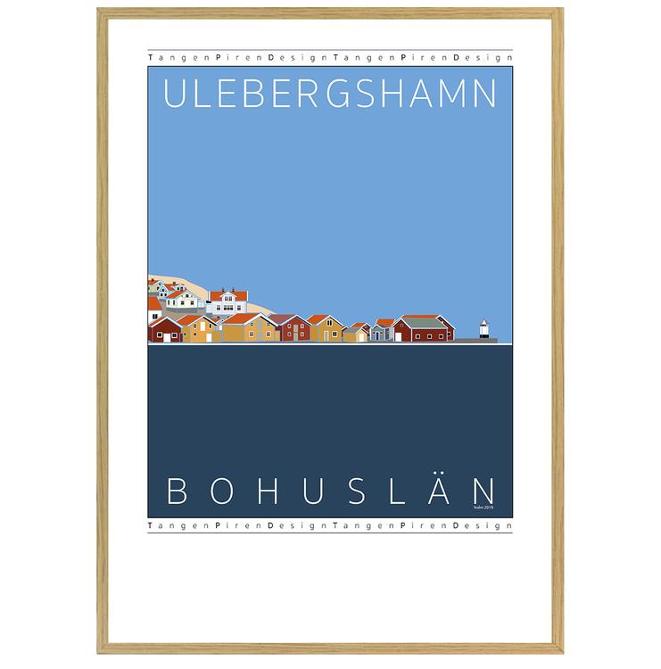 Poster Ulebergshamn med ekram