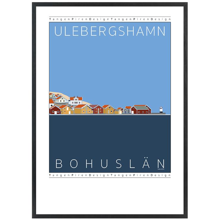 Poster Ulebergshamn med svart ram