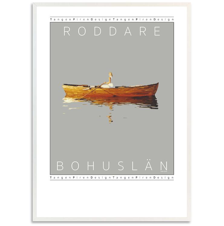 Poster Roddare vit ram