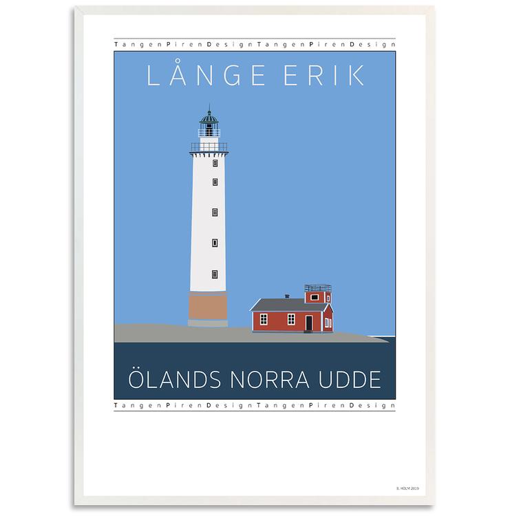 Poster Långe Erik vit ram