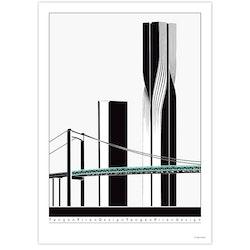 Älvsborgsbron med skyskrapa