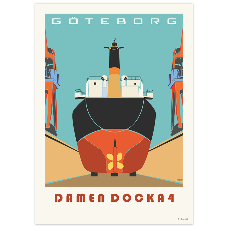 Poster Göteborg Docka 4 utan ram