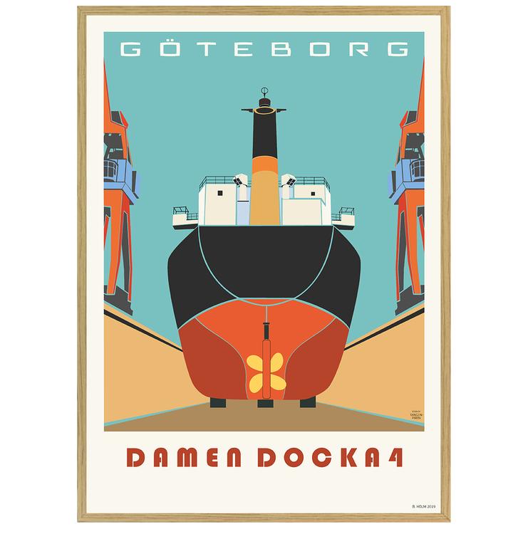 Poster Göteborg Docka 4 ekram