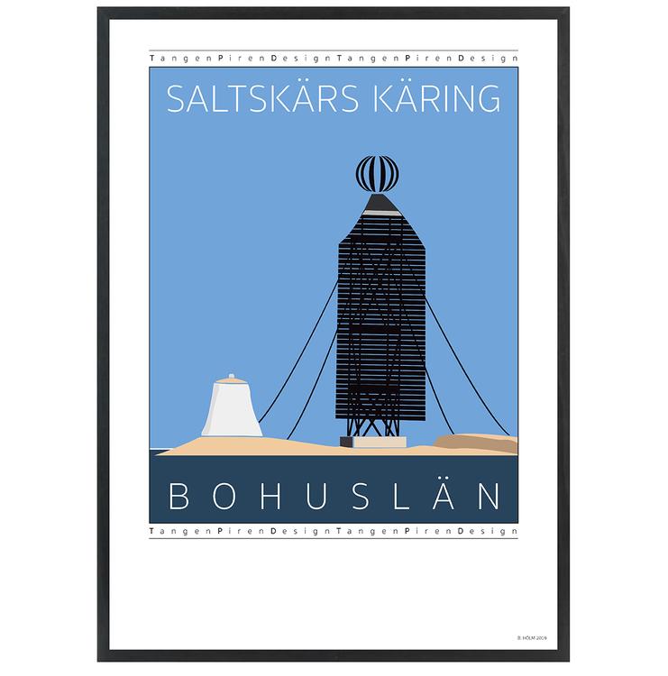 Poster Saltskärs Käring med svart ram