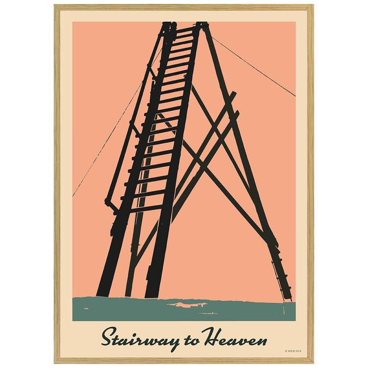 Poster Stairway to Heaven med ekram