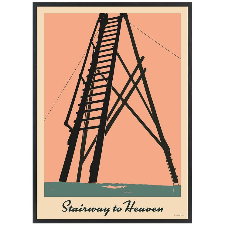 Poster Stairway to Heaven med svart ram
