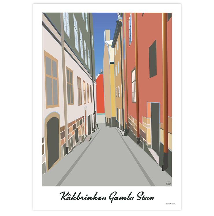 Poster Stockholm Kåkbrinken utan ram