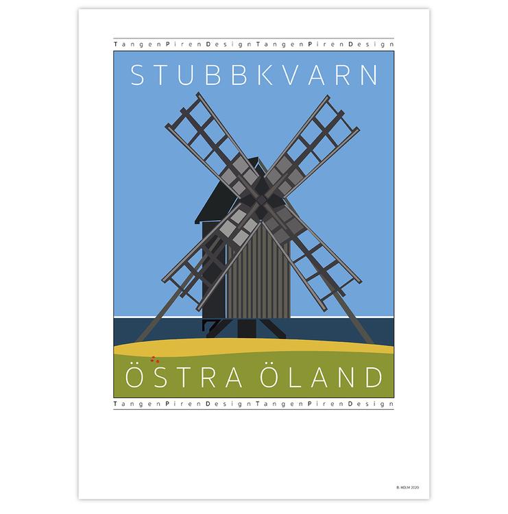Poster Stubbkvarn Öland utana ram