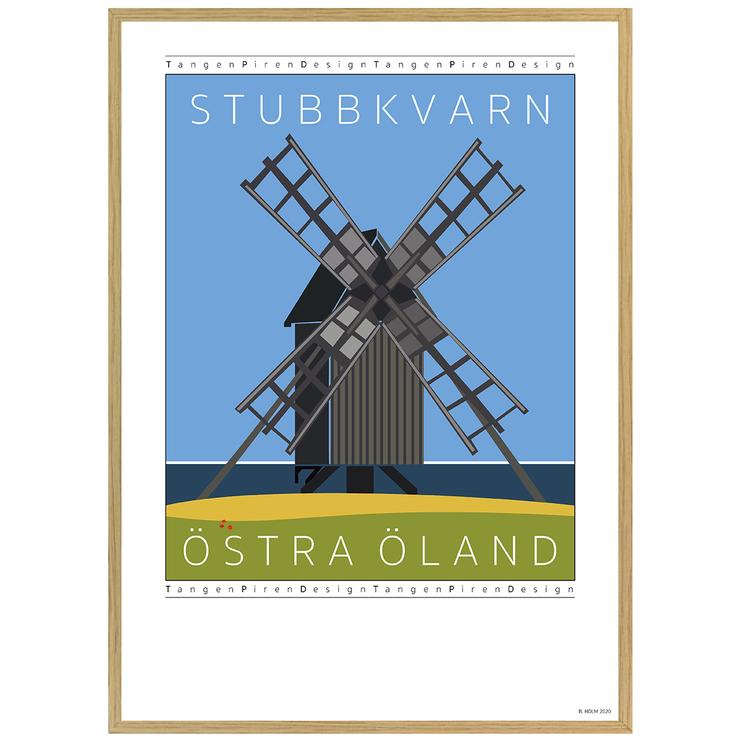 Poster Stubbkvarn Öland med ekram