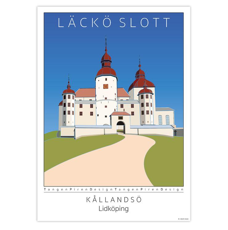 Poster Läckö Slott utan ram